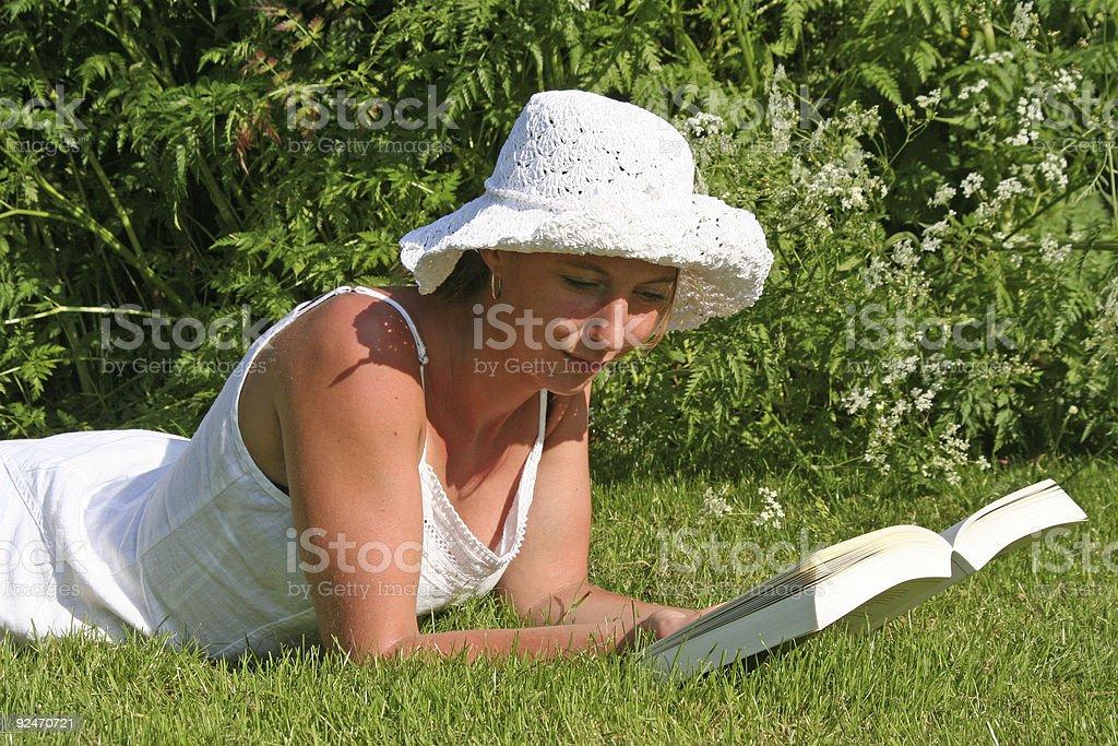 Summer Reading royalty-free stock photo