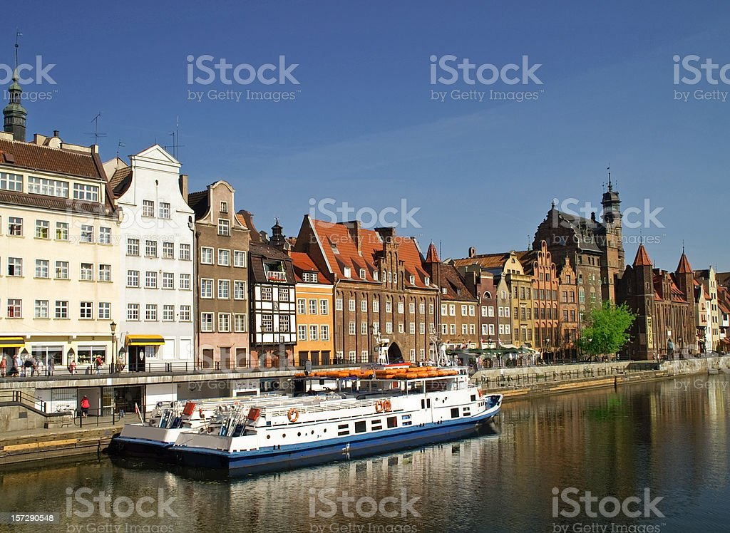 Summer Reflections in Gdansk Poland royalty-free stock photo