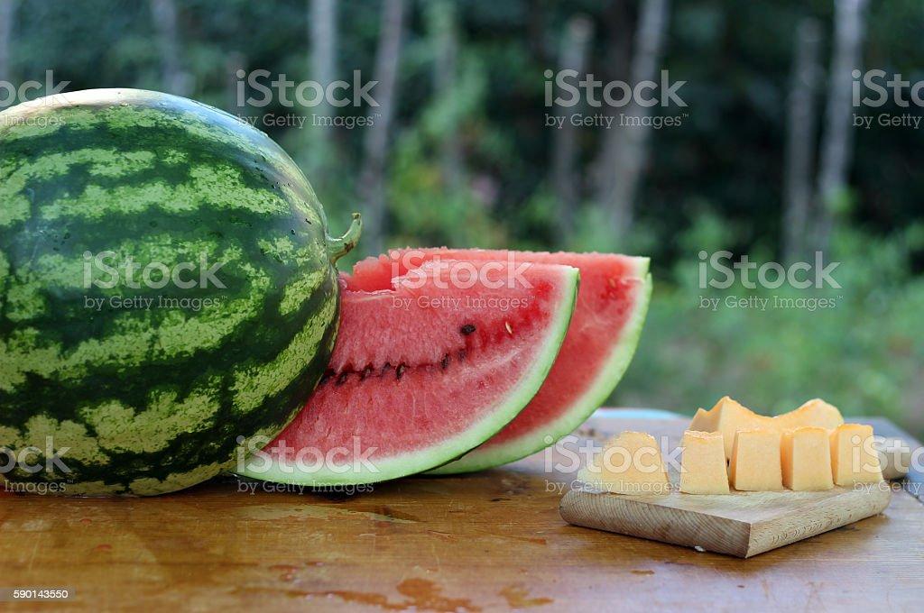 Summer refreshments stock photo