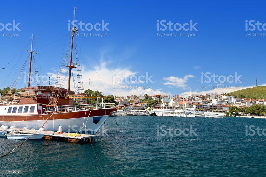 Summer resort in Greece stock photo