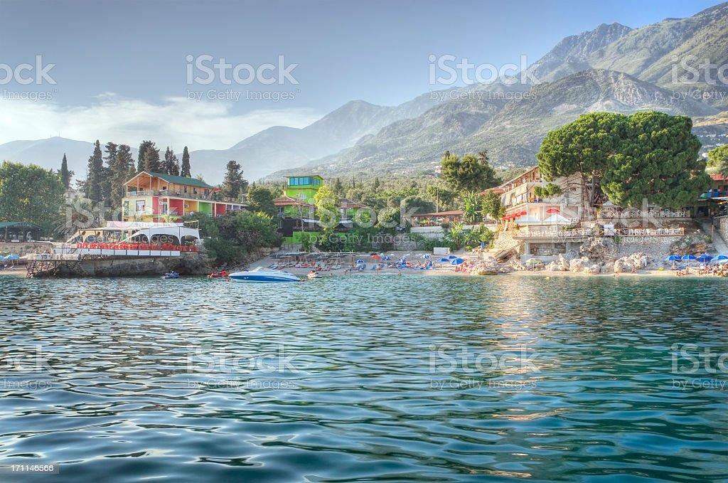 Summer Resort on the Adriatic Sea stock photo
