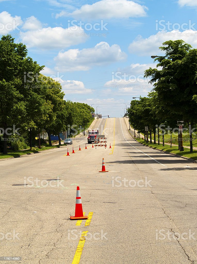 Summer Road Constructions royalty-free stock photo