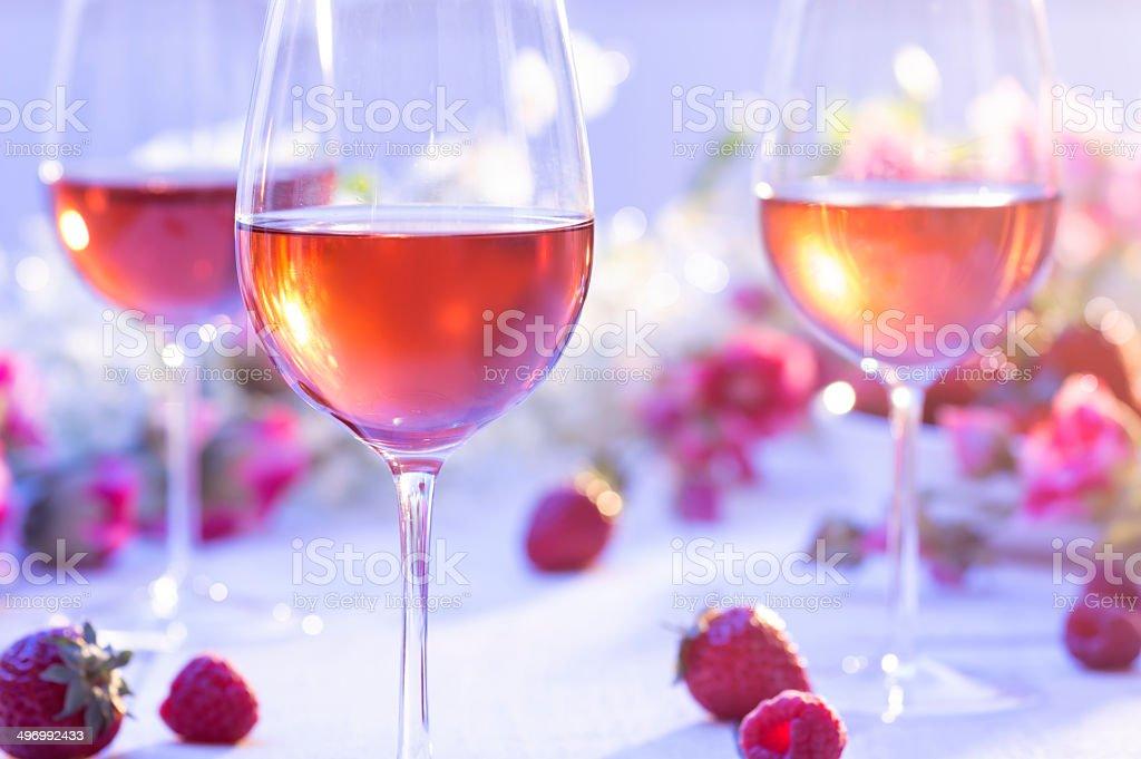 Summer Roase Wine stock photo