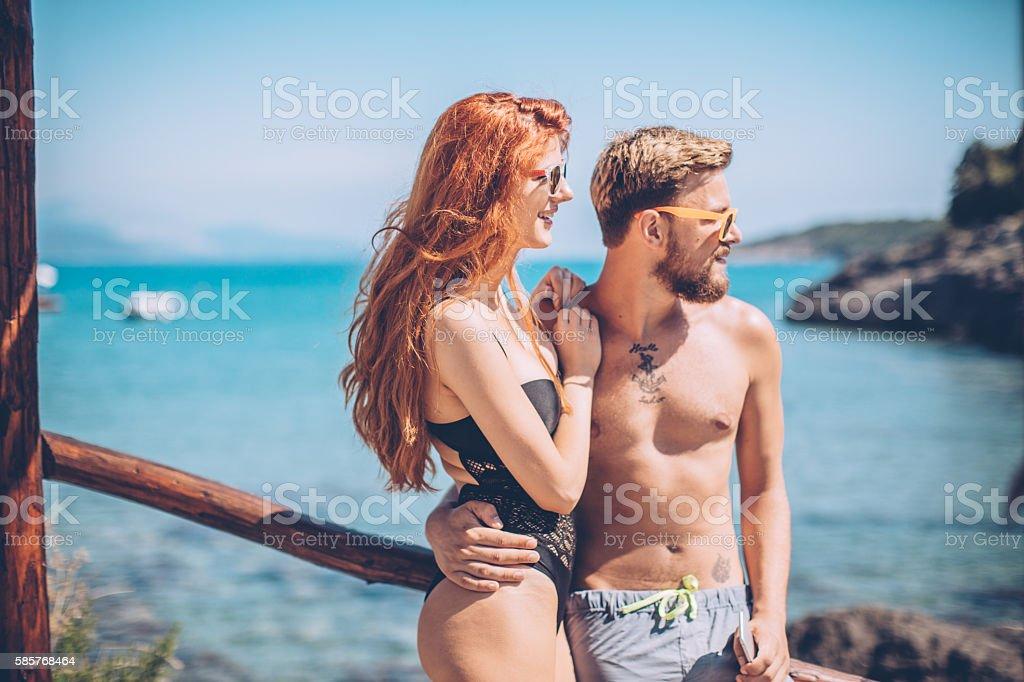 Summer romance stock photo