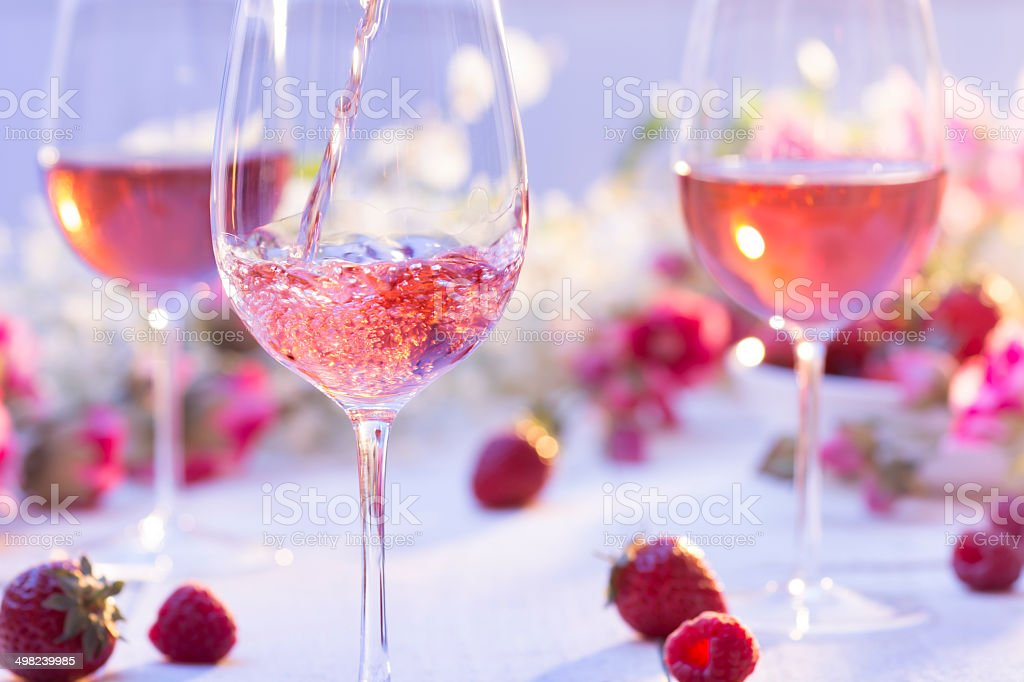 Summer Rosé stock photo