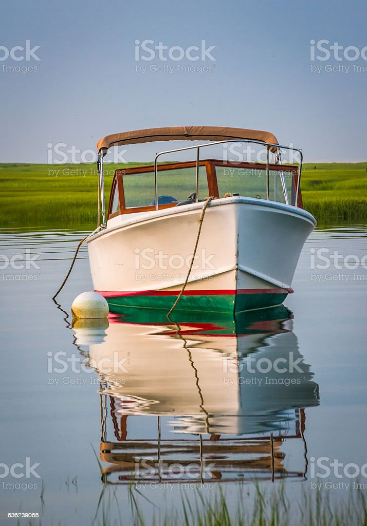 Summer Runabout Reflections stock photo