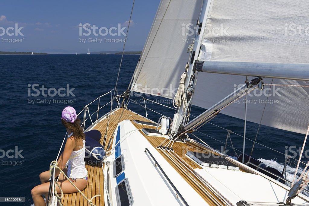 summer sailing stock photo