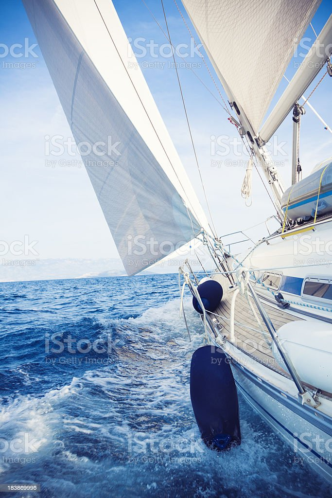 summer sailing royalty-free stock photo