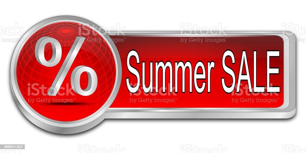Summer Sale Button - 3D illustration stock photo