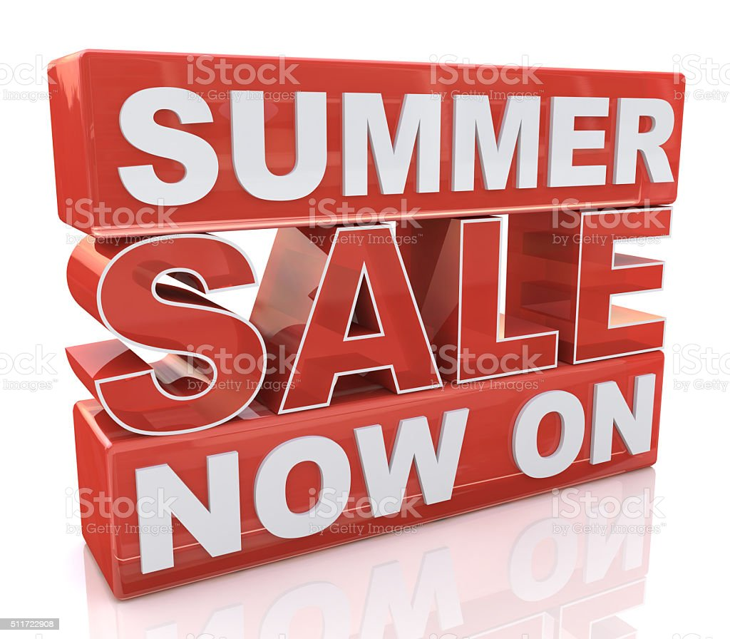 Summer Sale Now On stock photo