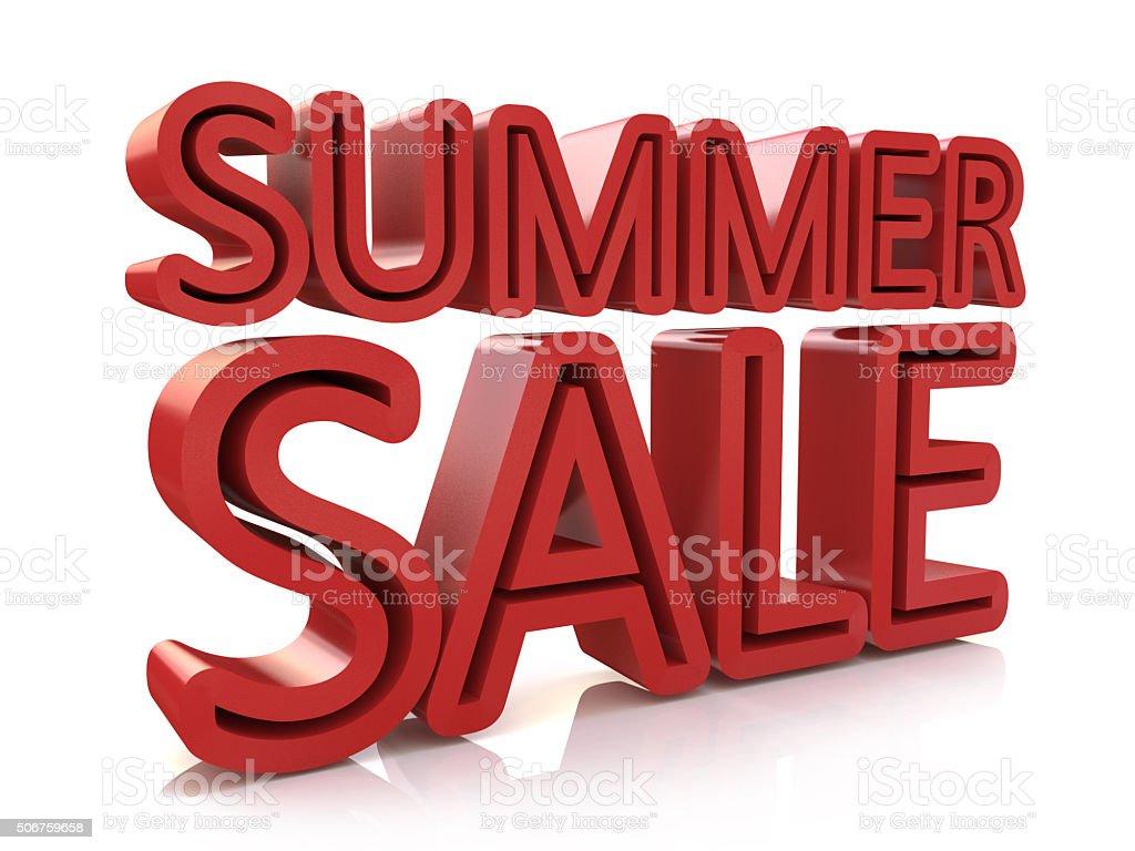 3D Summer Sale Word stock photo
