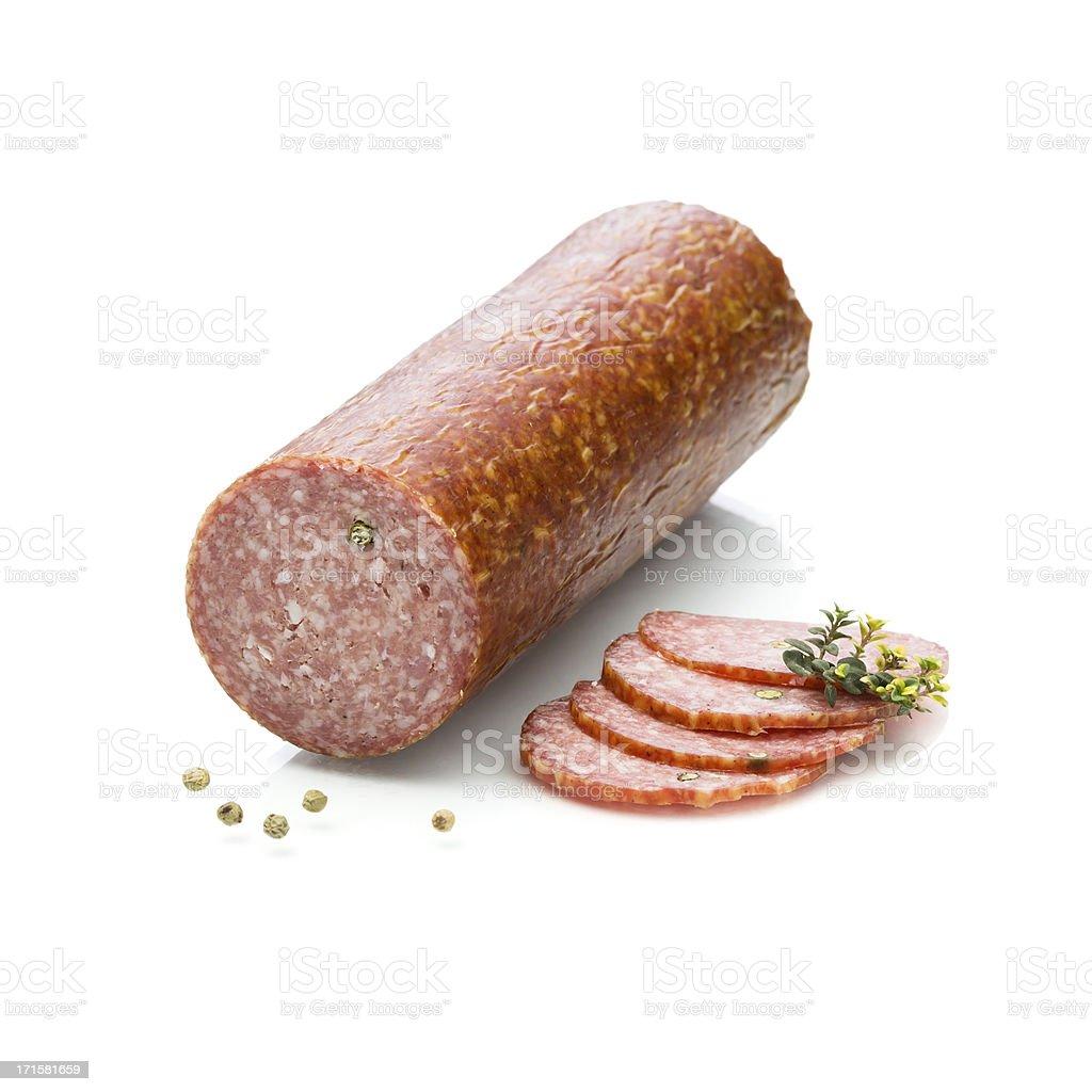 Summer sausage stock photo