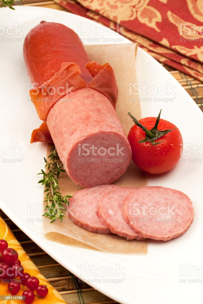 Summer Sausage stock photo