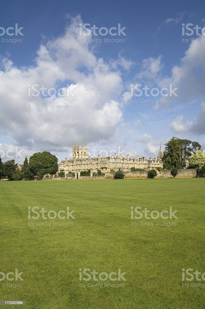 Summer scene, Merton College, Oxford stock photo