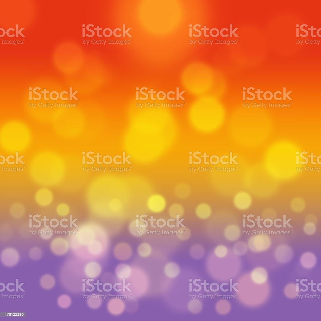 Summer sea background with yellow bokeh. stock photo