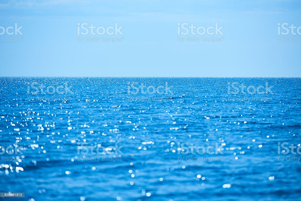 summer sea view stock photo