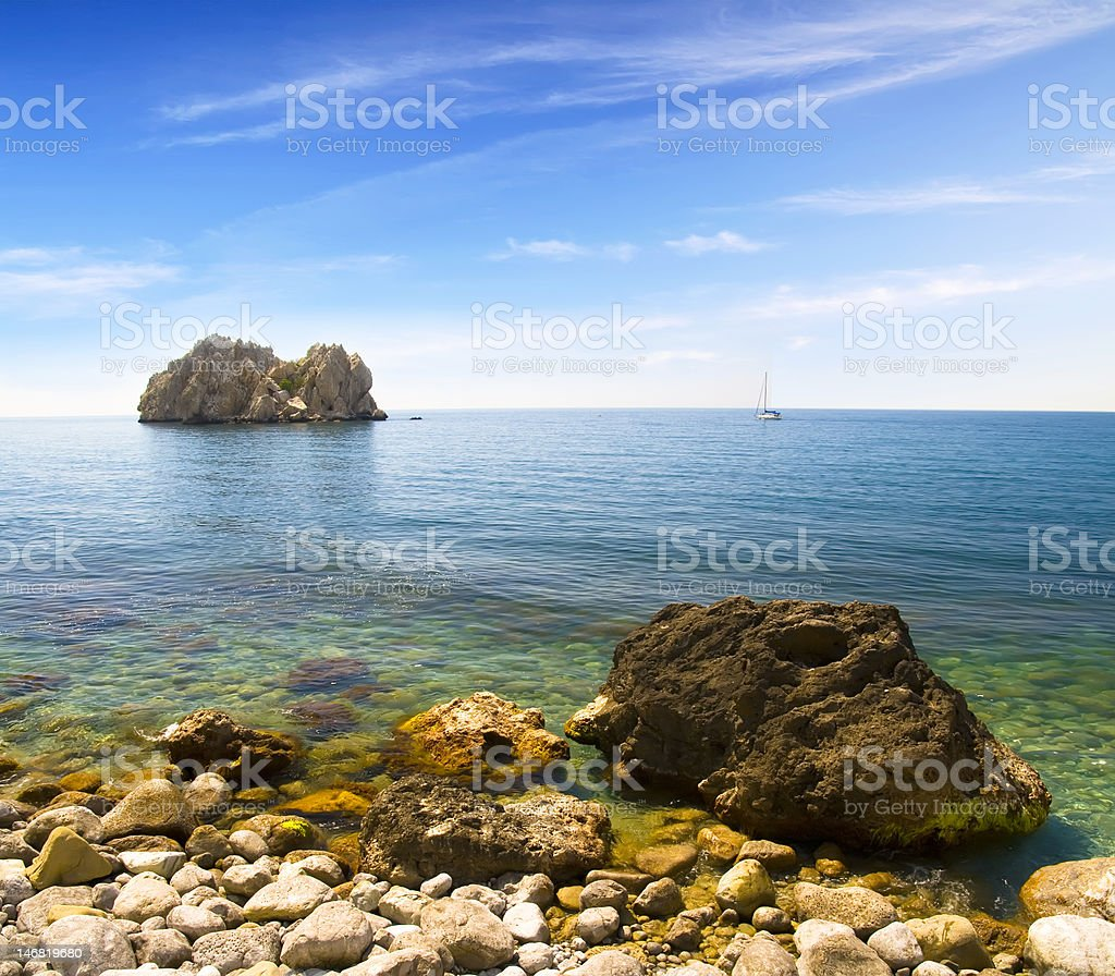 summer seascape royalty-free stock photo