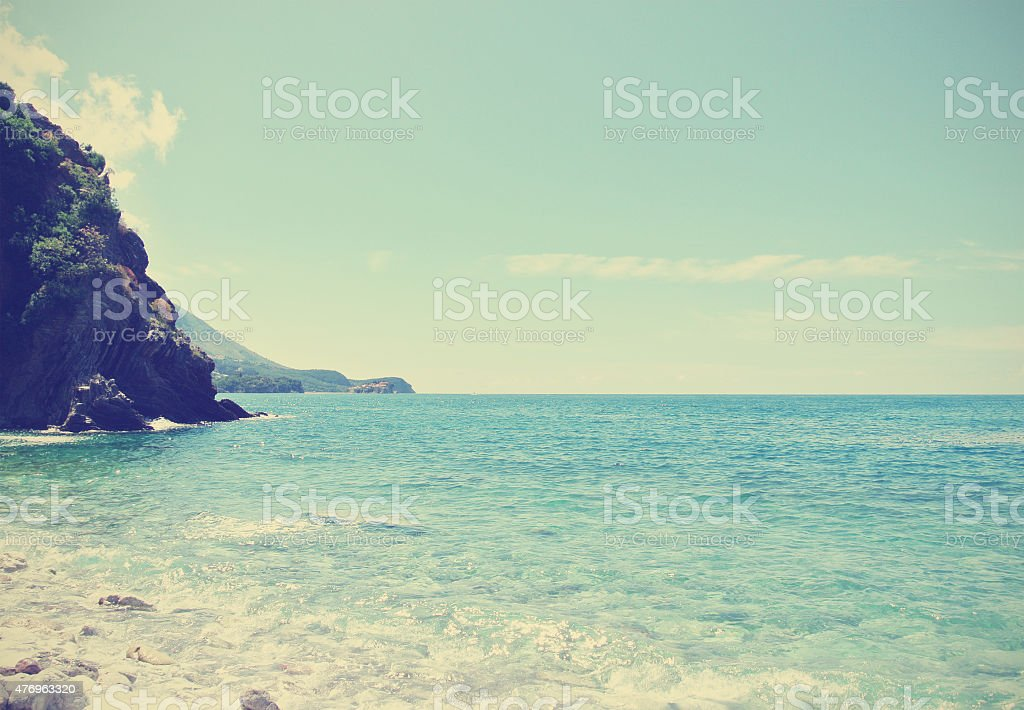 Summer seascape, retro/vintage stock photo