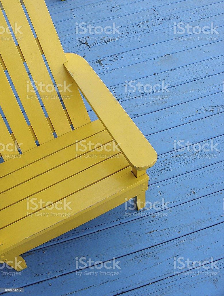 Summer seat stock photo