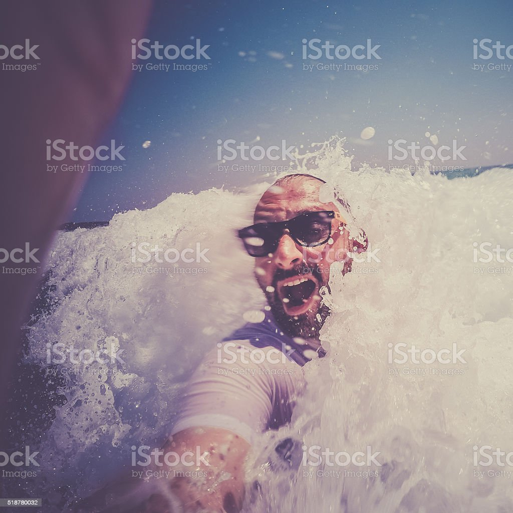 Summer selfie stock photo