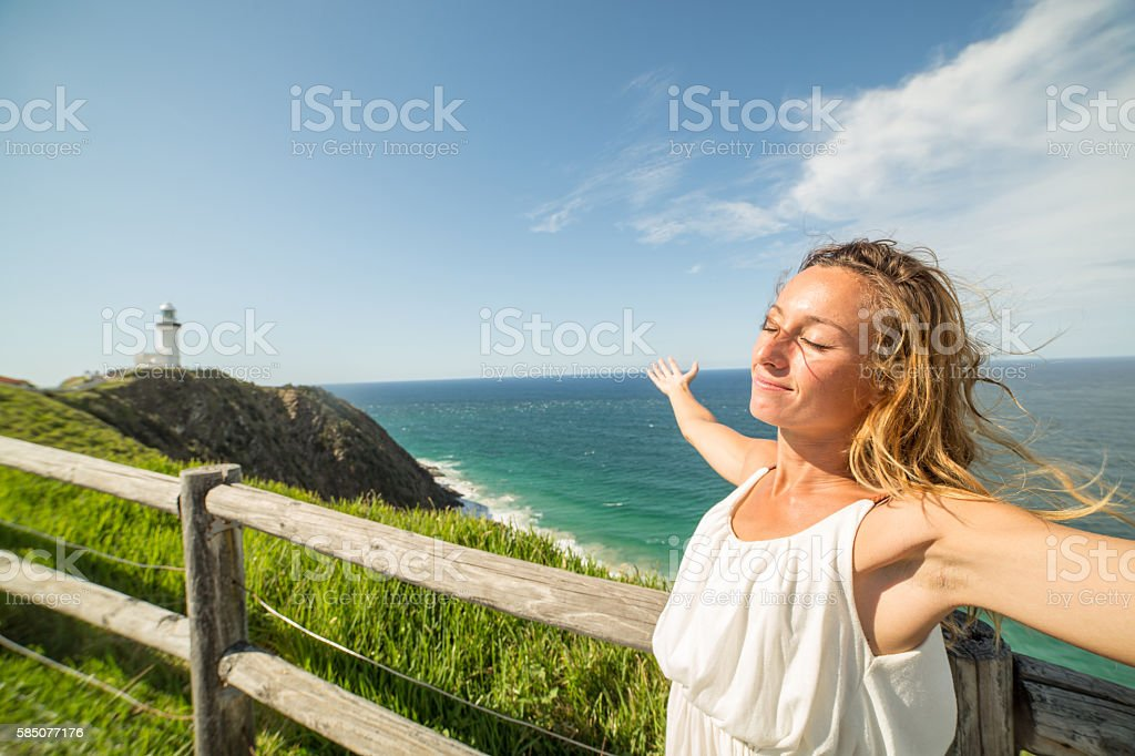 Summer serenity freedom stock photo