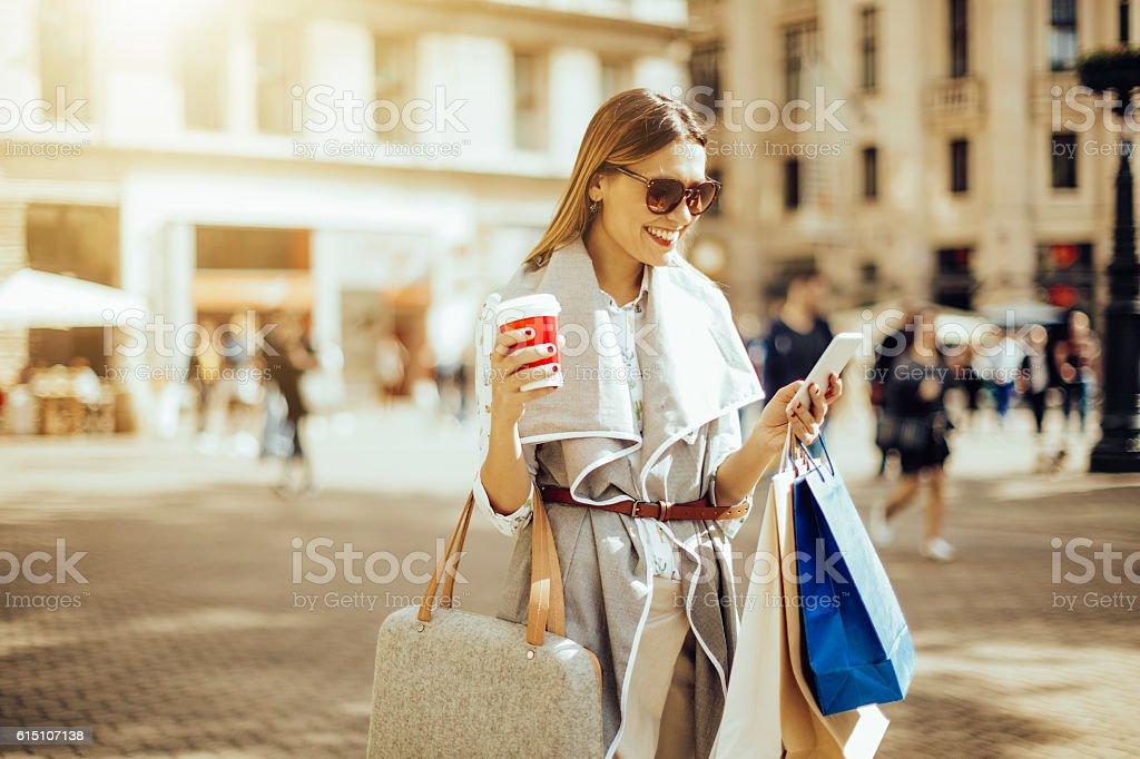 Summer shopping stock photo