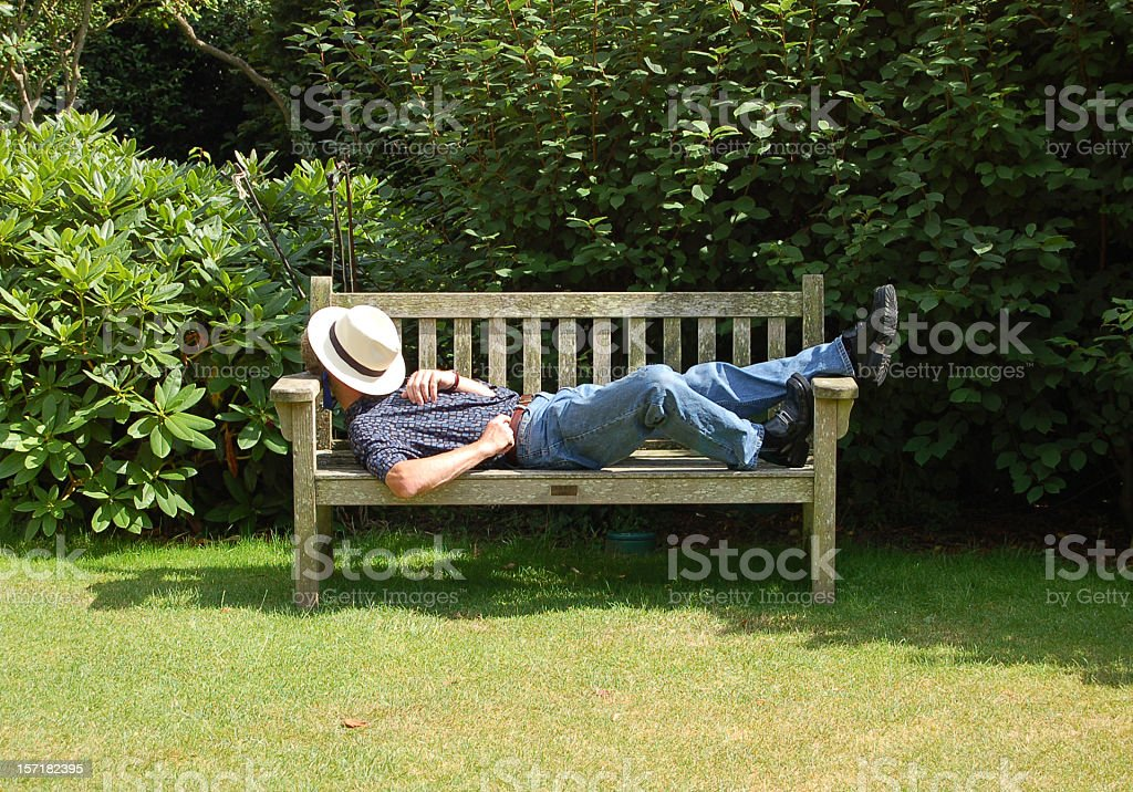 Summer siesta stock photo