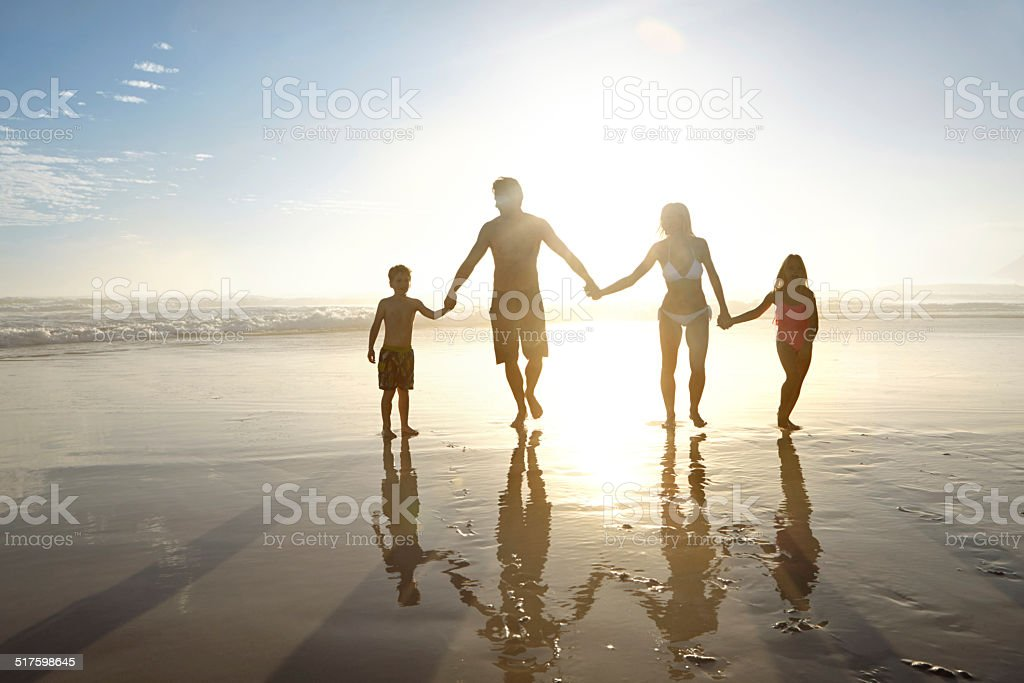 Summer silhouettes stock photo