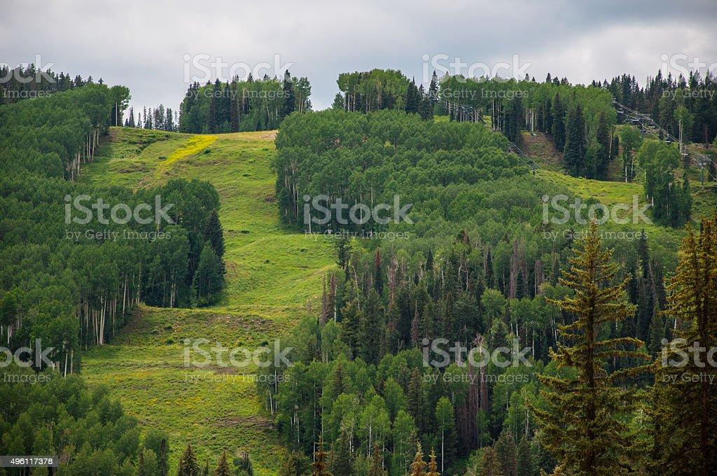 Summer Ski Lift Durango Colorado stock photo