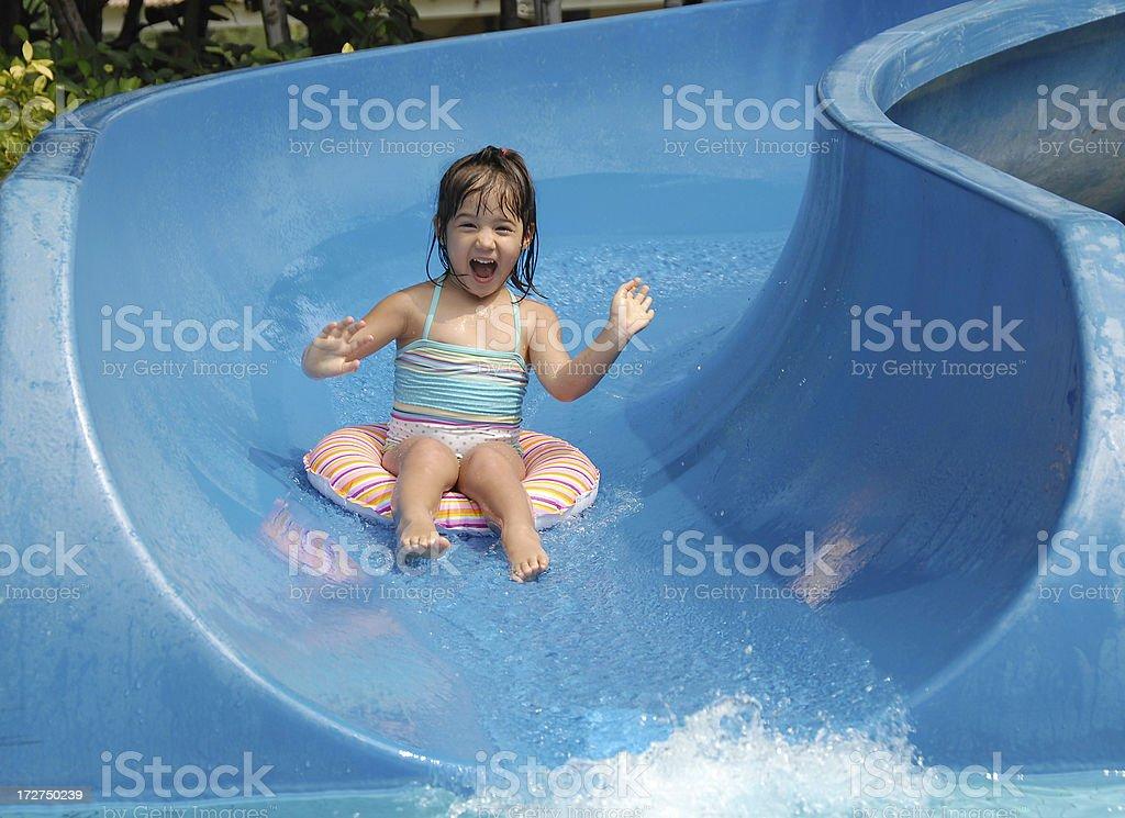 Summer Sliding Fun stock photo