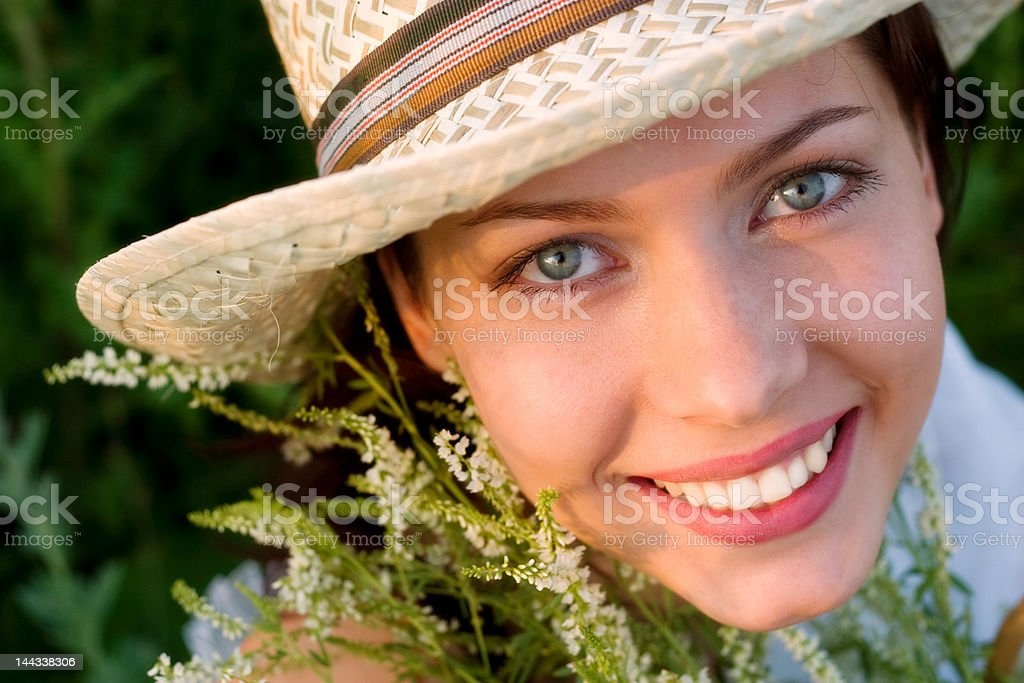 summer smile royalty-free stock photo