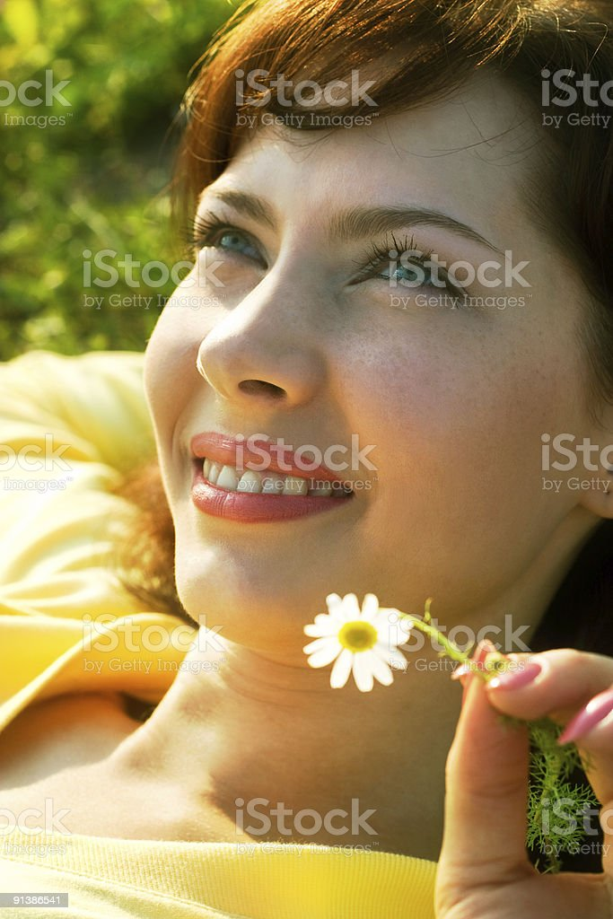 summer smile royalty-free stock photo