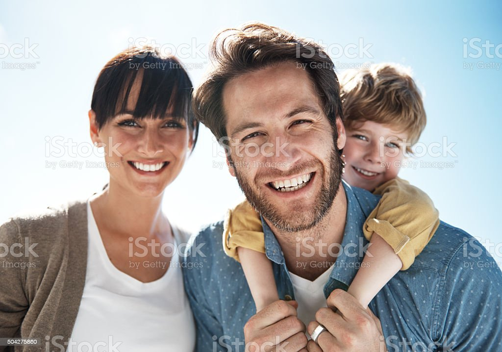Summer smiles with the family stock photo