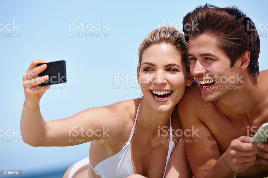 Summer snapshots stock photo