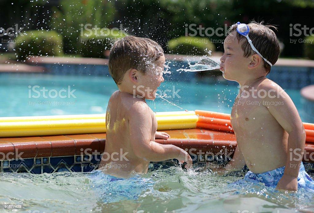 Summer spit wars stock photo