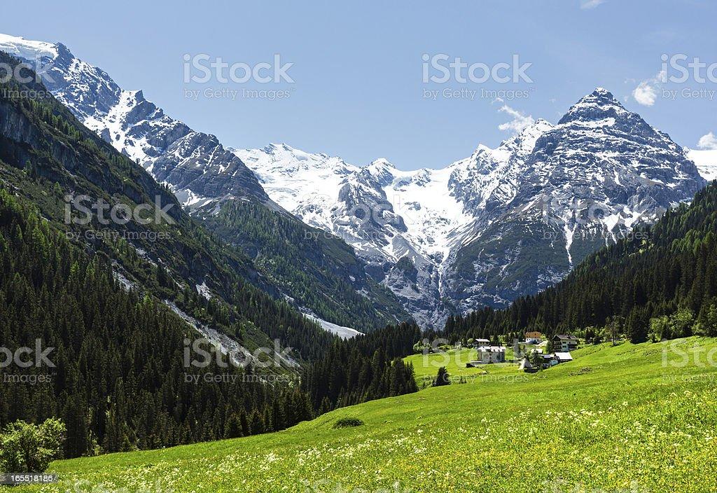 Summer Stelvio Pass (Italy) royalty-free stock photo