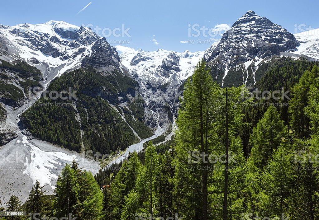 Summer Stelvio Pass (Italy) stock photo