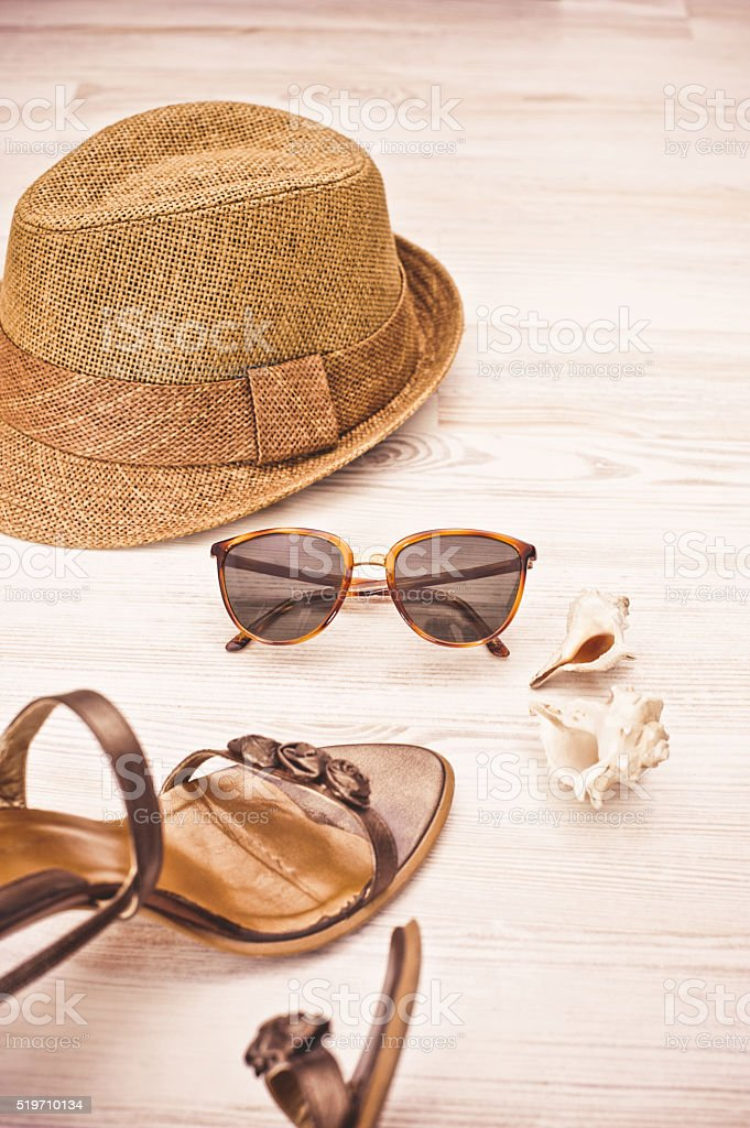 Summer still life concept stock photo
