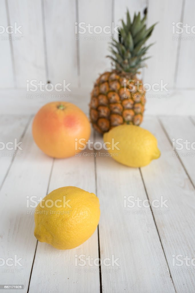 Summer still life with fruits stock photo