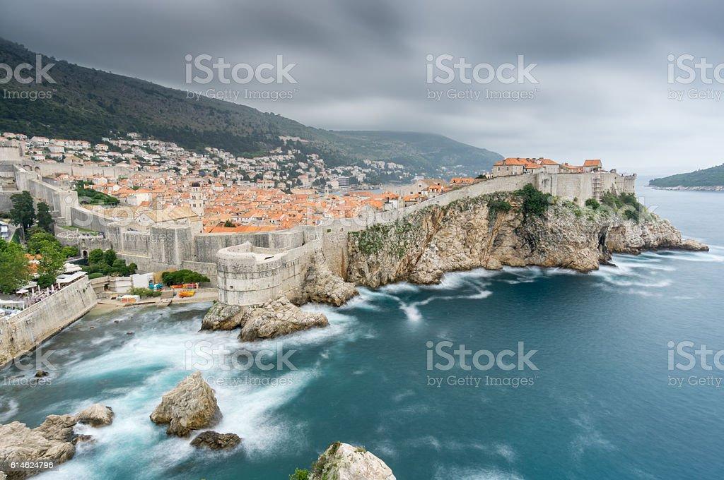 Summer Storm Over Dubrovnik stock photo