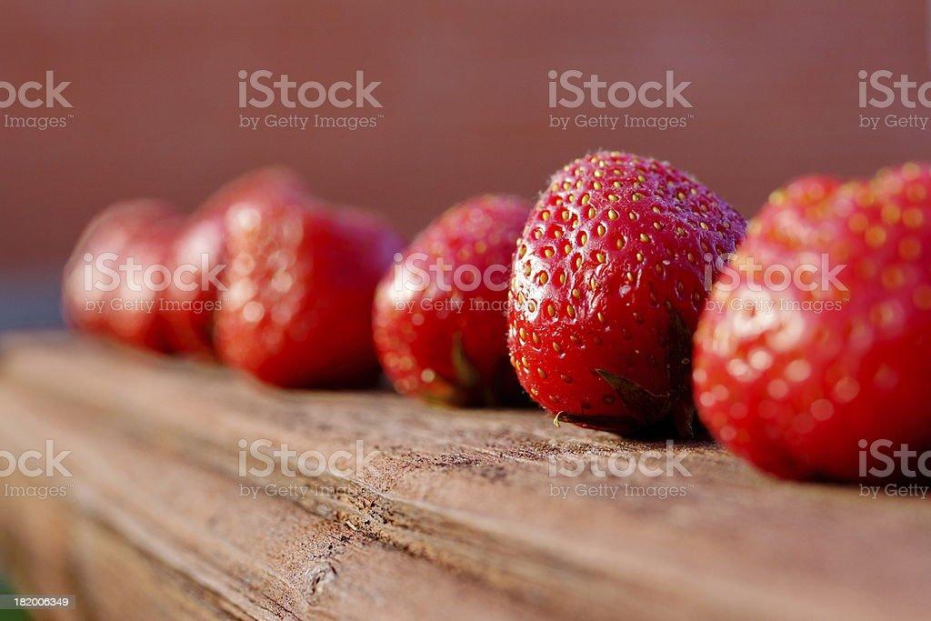 Summer Strawberries Diet Nutrition Arrangement XXL royalty-free stock photo