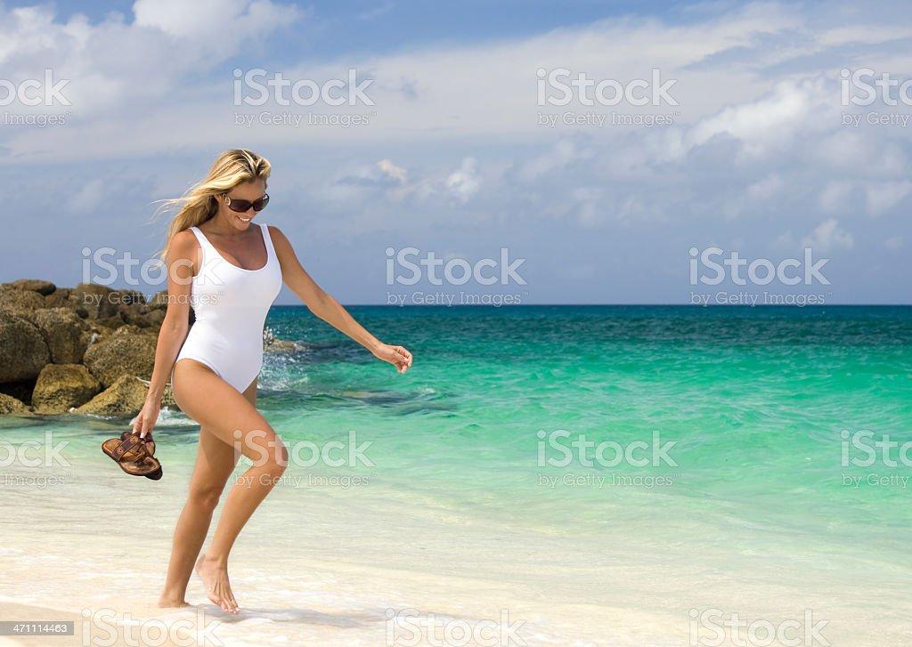 summer stroll stock photo