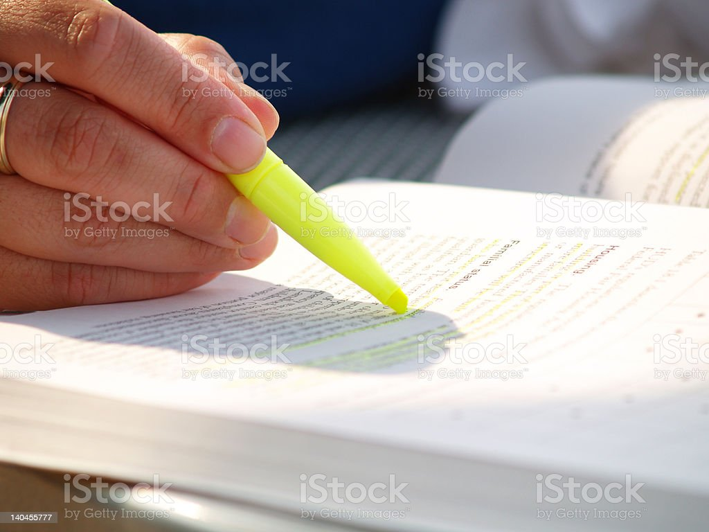 Summer Studying stock photo