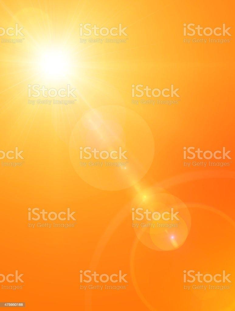 Summer sun background stock photo