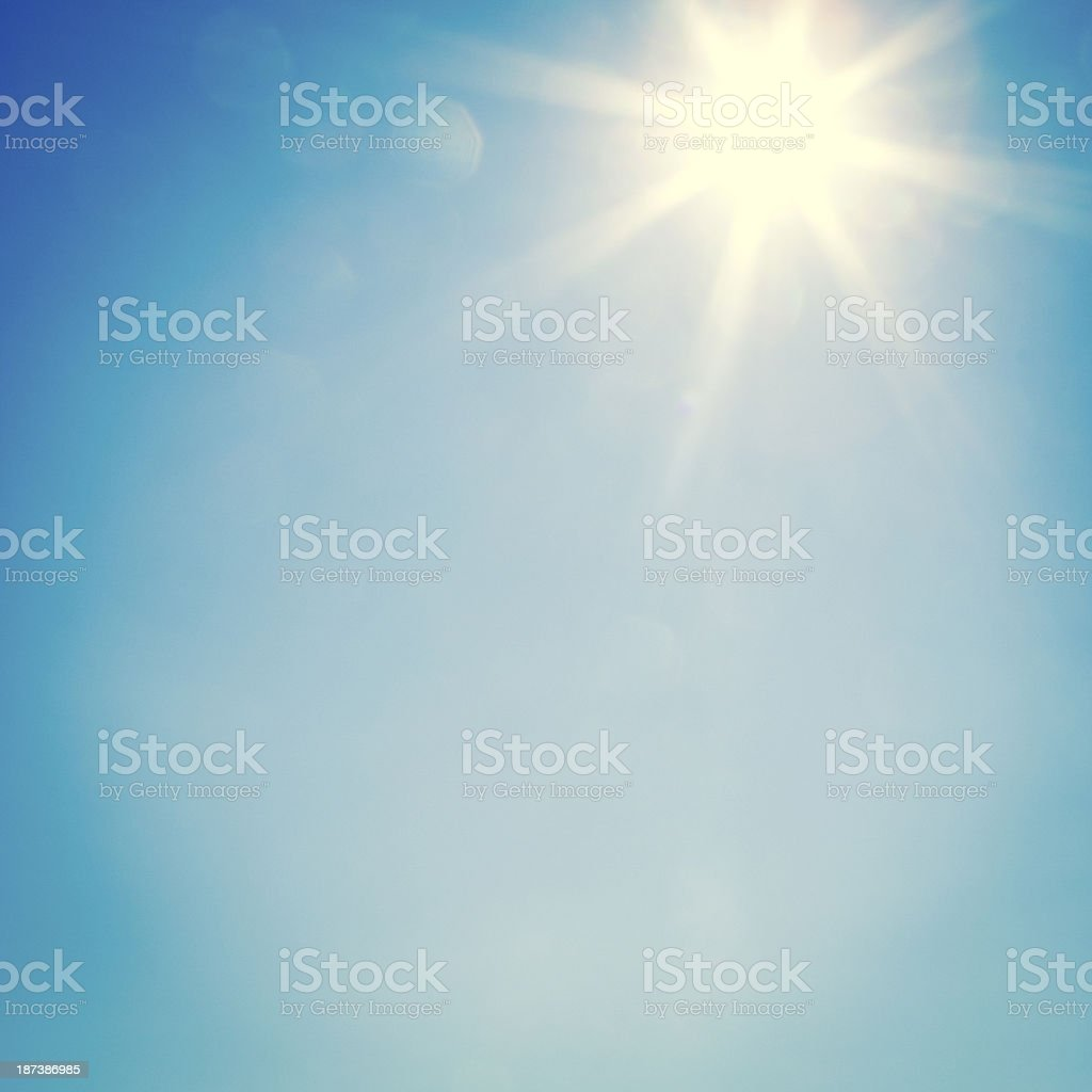 Summer sun stock photo
