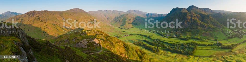 Summer sunrise Lake District UK royalty-free stock photo