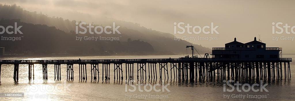 Summer Sunrise- Malibu Pier royalty-free stock photo