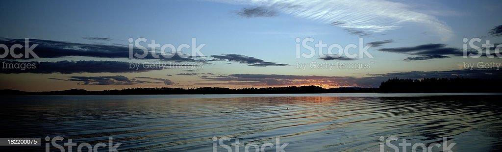 Summer Sunset, Dana Passage, Washington, United States royalty-free stock photo