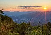 Summer Sunset over North Adams
