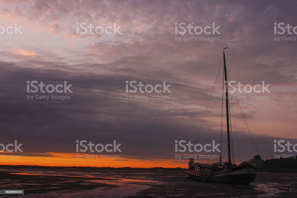 Summer sunset royalty-free stock photo